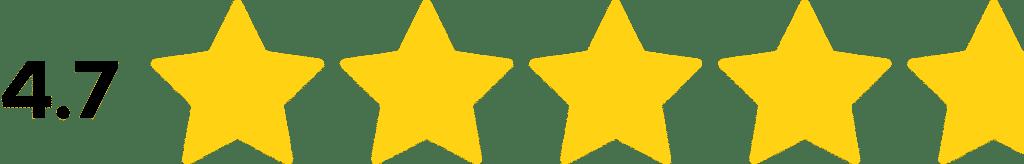 4.7 Star Ratings