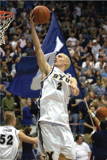 Travis Hansen Playing Basketball at BYU