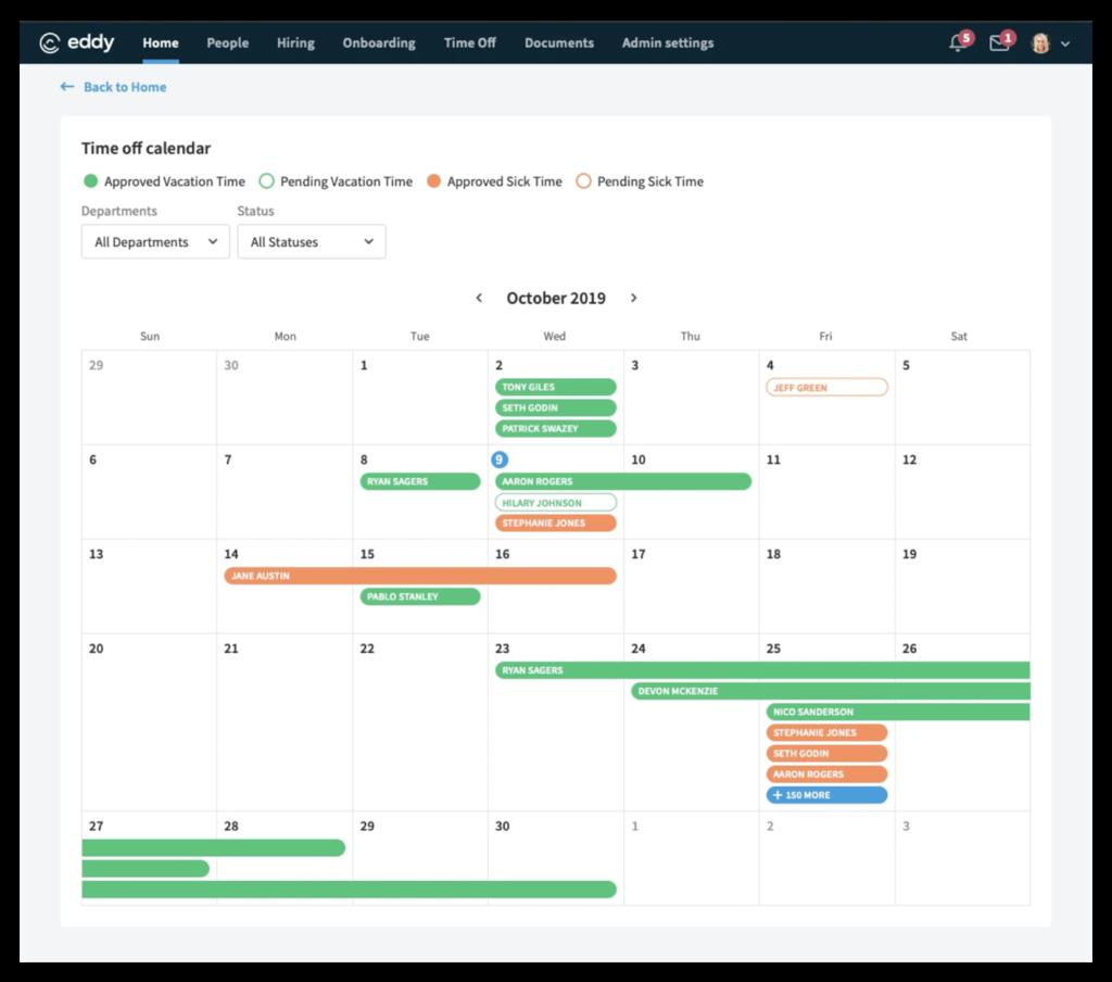 Who's Out Calendar Screenshot