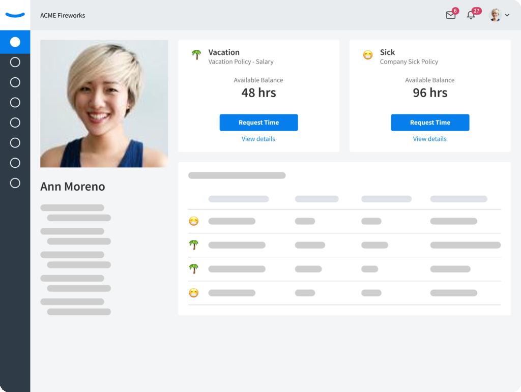 EddyHR - PTO - Employee profile