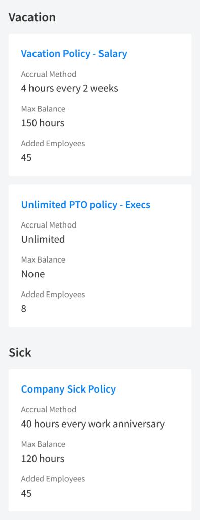 EddyHR - PTO - Policies